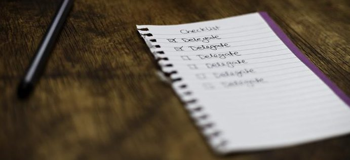 image of a checklist on a table